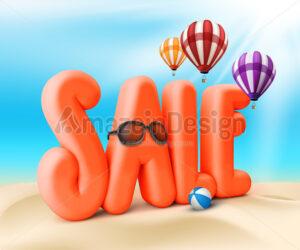 3D Sale Summer Promotion Illustration - Amazeindesign