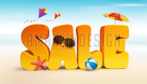 3D Sale Word for Summer Promotion - Amazeindesign
