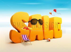 3D Summer Sale Word Design - Amazeindesign