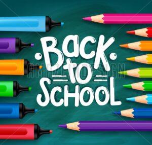 Back to School Chalkboard Vector Illustration - Amazeindesign