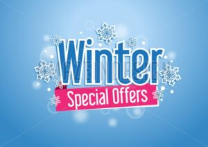 Winter Special Offers Title in Snow Vector Design - Amazeindesign