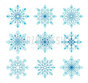 Beautiful Collection of Snow Flakes Isolated