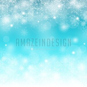 Blue Winter Snow Background Vector