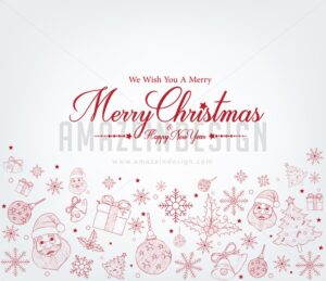 Christmas Greetings Card in Decor Patterns