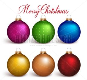 Colorful Christmas Balls Vector Decoration