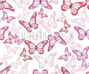Colorful Vector Butterflies Continuous Pattern - Amazeindesign