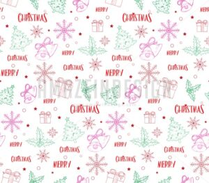Continuous Christmas Pattern in Vector