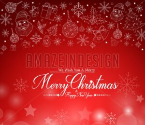 Merry Christmas Greetings Card in Patterns