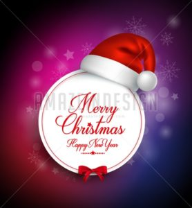 Merry Christmas Greetings Card in Vector