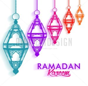 Ramadan Kareem Lanterns or Fanous Hanging
