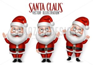 Vector Santa Claus Character Set for Christmas - Amazeindesign