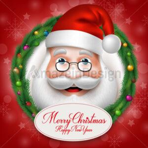 Santa Claus Head Character Vector Illustration - Amazeindesign