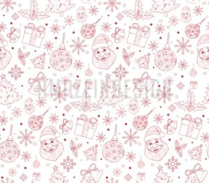 Seamless Merry Christmas Pattern in Vector
