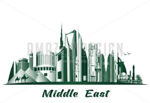 Vector Middle East Famous Buldings and Landmarks - Amazeindesign