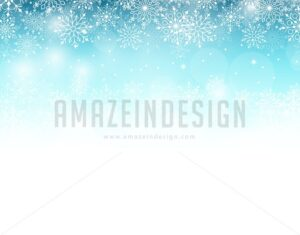 Vector Winter Background in Blue