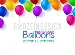 Birthday Balloons Vector Background
