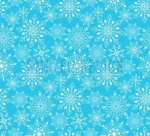 Seamless Winter Snow Pattern in Vector