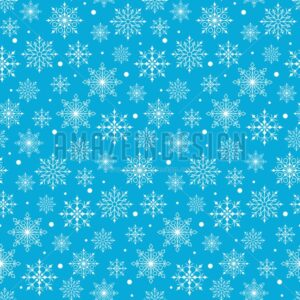 Vector Snow Flakes Background Pattern