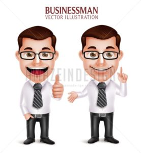 3D Vector Professional Business Man Character
