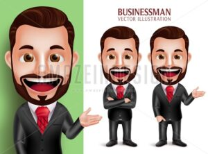 Businessman Vector Character Smiling