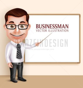 Teacher Man or Professor Vector Character
