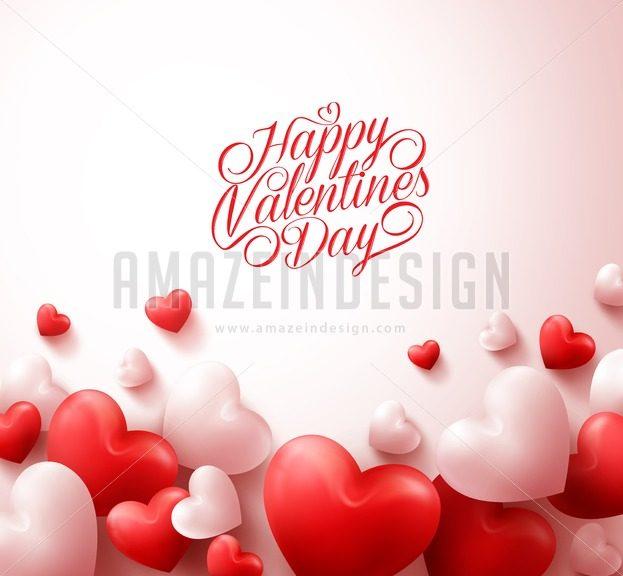 Happy Valentines Day Background Vector - Amazeindesign