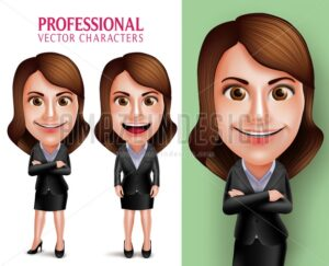 Professional Woman Vector Character in Business Outfit
