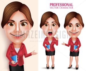 School Teacher Vector Character Teaching Lesson - Amazeindesign
