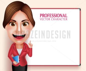 School Teacher Vector Character Teaching Lessons - Amazeindesign