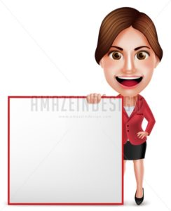 Business Woman Vector Character or School Teacher