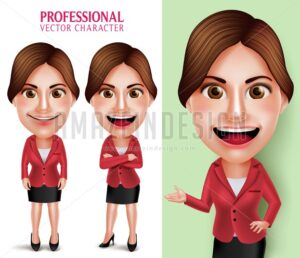 School Teacher or Businesswoman Vector Character - Amazeindesign