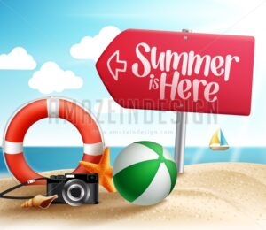 Summer Beach Destination Vector Design