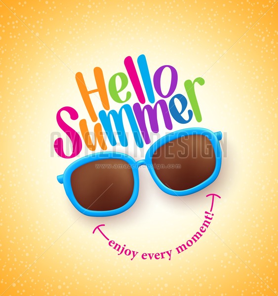 Summer Shades With Hello Summer Vector