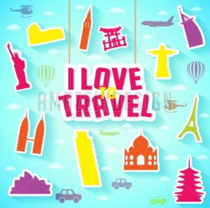 Hanging I Love to Travel Text - Amazeindesign