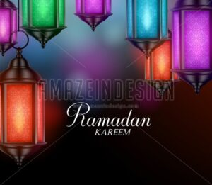 Hanging Lanterns or Fanous Vector for Ramadan - Amazeindesign