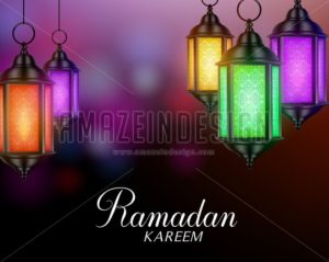 Ramadan Background with Lanterns or Fanous - Amazeindesign