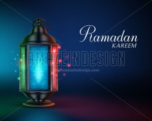 Ramadan Lantern or Fanous Vector Illustration - Amazeindesign