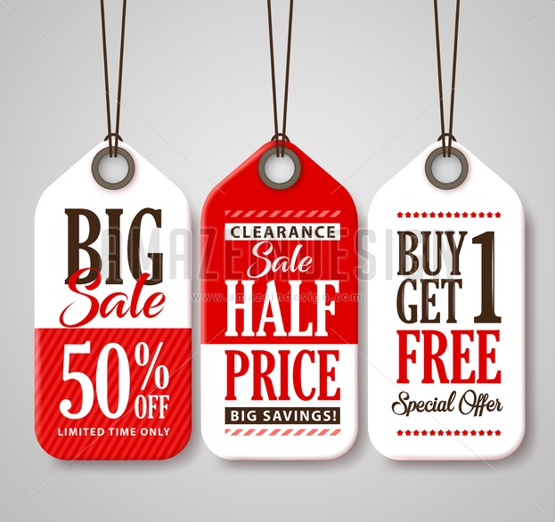 Sale Tag Design Vector Collection for Discounts