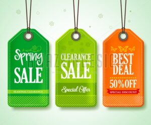 Spring Sale Tags Vector Set for Seasonal - Amazeindesign