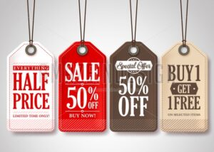 Vector Sale Tags Design Collection Hanging - Amazeindesign