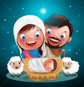 Holy Night When Jesus Born in Manger in Christmas Day - Amazeindesign