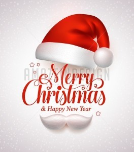 Merry Christmas Title Typography Vector Concept - Amazeindesign