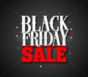 Black Friday Sale Vector Banner Design Background - Amazeindesign