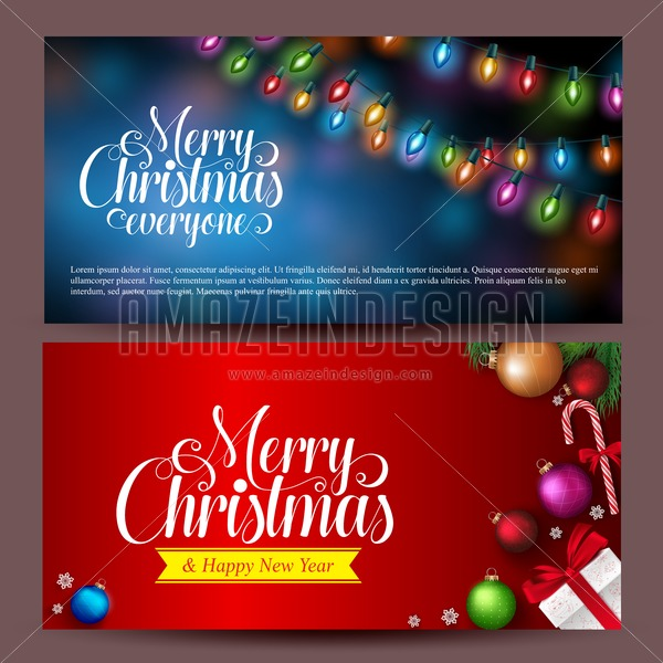 Christmas Banners.Christmas Banners Design Greetings Card Background