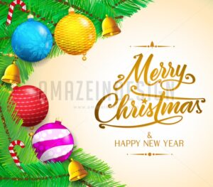 Christmas Messages and Colorful objects - Amazeindesign