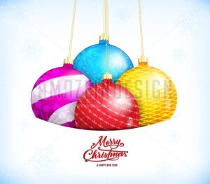 Merry Christmas and Happy New Year Greeting Card - Amazeindesign