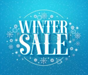 Winter Sale 3D Text Vector iIlustration with Snowflakes - Amazeindesign