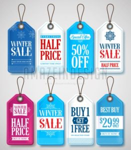Winter Sale Tags Set for Season Store Promotions - Amazeindesign