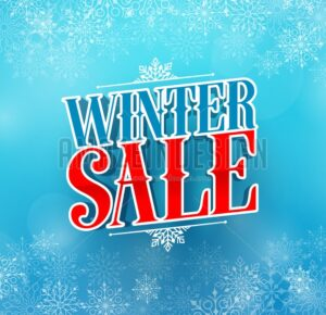 Winter Sale Title Vector Design in Blue Color - Amazeindesign