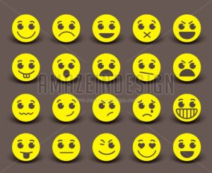 Yellow Smiley Face Icons and Emoticons - Amazeindesign